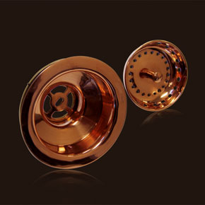 Charmant Polished Copper Strainer